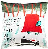 Kate Spade Rain or Shine Magazine Cover Square Pillow