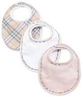 Burberry Cotton Bib Set, Powder Pink