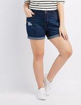 Charlotte Russe Plus Size Refuge Girlfriend Cuffed Denim Shorts