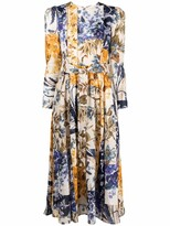Thumbnail for your product : Zimmermann Patchwork Floral Linen Midi Dress