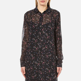 Gestuz Women's Stacie Long Shirt Dress Mini Flower