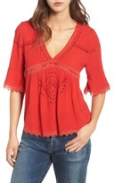 Ella Moss Women's Broderie Anglaise Top