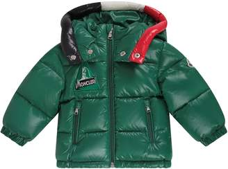 Moncler Green Babyboy Jacket With Iconic Patch