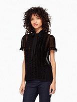 Kate Spade Ruffle chiffon shirt