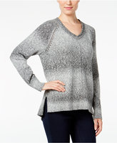 Style&Co. Style & Co. V-Neck Striped Sweater, Only at Macy's