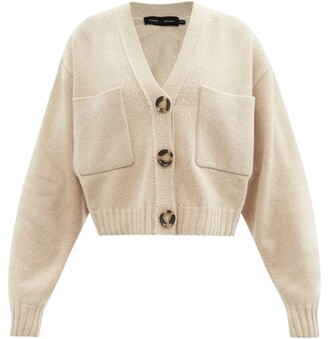 Proenza Schouler Patch-pocket Cropped Cashmere-blend Cardigan - Beige