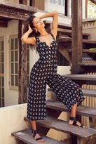Silence & Noise Silence + Noise Button-Down Printed Jumpsuit