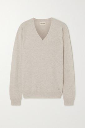 LOULOU STUDIO Serafini Oversized Melange Cashmere Sweater - Gray