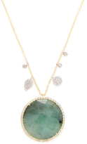 Meira T Turquoise Doublet & 0.59 Total Ct. Pave Diamond Pendant Necklace