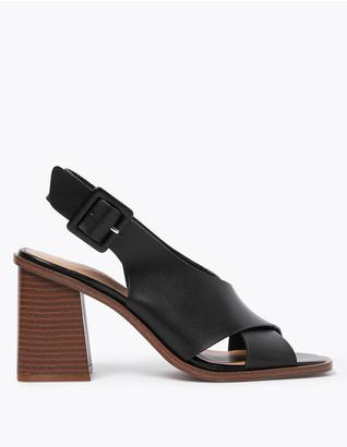 Marks and Spencer Block Heel Open Toe Slingback Sandals