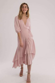ASTR the Label The Shawna Dress In Pink - L