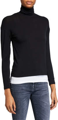 Majestic Filatures Long-Sleeve Double Layer Turtleneck Sweater