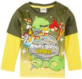 Tiful Angry Birds Little Boys Spring Fall Long Sleeve Cartoon Printing Cotton T-Shirts