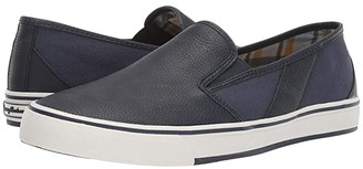 Tommy Bahama Pacific Palms (Navy Vegan Leather) Men's Slip on Shoes