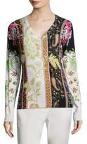 Etro Floral Scroll Paisley Sweater