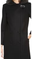 Alexander Wang Leather Hooded Car Coat