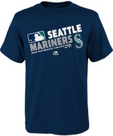 Majestic Boys' Seattle Mariners Authentic Collection Choice T-Shirt