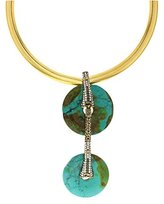 Katerina Psoma Double Turquoise Necklace of 43cm