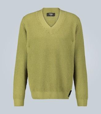 Fendi Waffle knit cashmere sweater