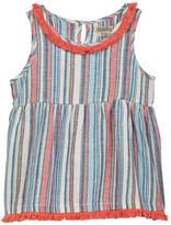 Lucky Brand Fringe Trim Stripe Top (Big Girls)