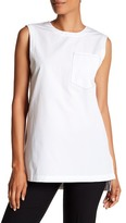 DKNY Sleeveless Hi-Lo Tunic