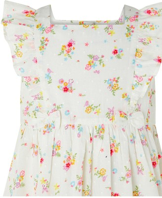 Monsoon Baby Girls S.E.W. Organic Kaia Dress - Ivory