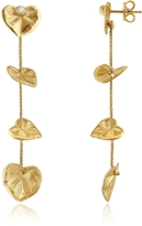 Torrini Leaf - Diamond 18K Yellow Gold Drop Earrings