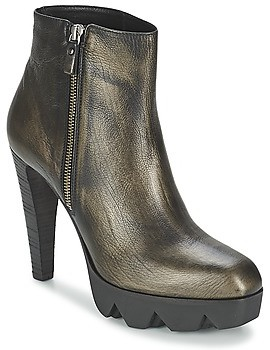 VIC EXINATE women's Low Ankle Boots in Grey