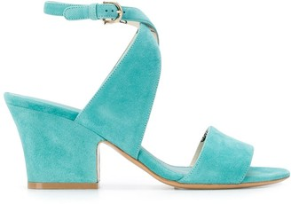 Salvatore Ferragamo Sheena cross-strap mid-heel sandals