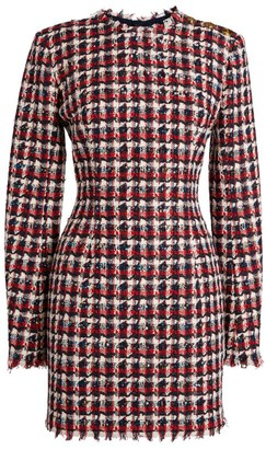Balmain Check Tweed Dress