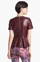 McQ by Alexander McQueen Leather Peplum Top
