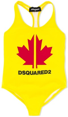 DSQUARED2 Maple Leaf Print Swimsuit