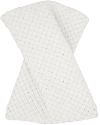 Bottega Veneta White The Crisscross Clutch
