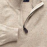 Charles Tyrwhitt Stone cotton cashmere zip neck jumper