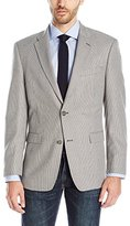 Tommy Hilfiger Men's Ethan Two Button Houndstooth Blazer, Grey