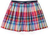 Ralph Lauren Girls 7-16 Plaid Pull-On Skirt
