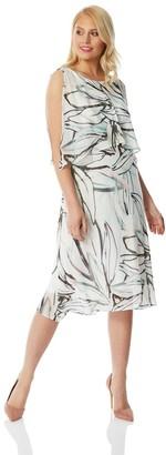 M&Co Roman Originals abstract print chiffon layer dress