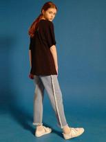 Side Fringe Denim Pants - Light Denim