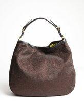 Oryany bronze glitter 'Noelle' shoulder bag with leather trim