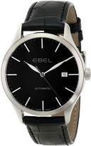 Ebel Men's 1216089 100 Stainless Steel Watch with Leather Band