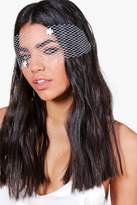 Boohoo Macie Bridal Mesh Face Mask white
