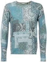 Etro paisley print patchwork sweater