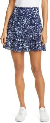Nicole Miller Floral Miniskirt