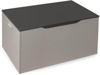 Badger Basket Flat Bench Top Toy and Storage Box - Woodgrain/Gray