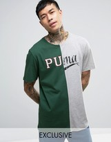 Puma Split Logo T-shirt Exclusive To Asos 57531201