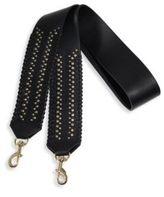 Rebecca Minkoff Whipstitch Studded Leather Guitar Handbag Strap