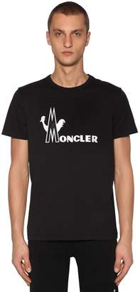 Moncler Printed Cotton Jersey T-shirt