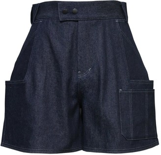 Ariak Dark Blue Raw Denim Shorts