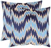 Safavieh Pillow Collection Throw Pillows, 22 by 22-Inch, Adam , Set of 2
