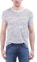 ATM Anthony Thomas Melillo Men's Broken-Stripe Short-Sleeve Crew Neck Tee